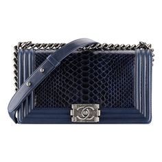 Chanel Cruise 2014 Bag Collection Reference Guide ❤ liked on Polyvore featuring bags, handbags, chanel, blue bag, blue purse, chanel bags, blue handbags and chanel purses