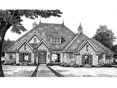 French Country House Plan with 2298 Square Feet and 3 Bedrooms(s) from Dream Home Source | House Plan Code DHSW55033