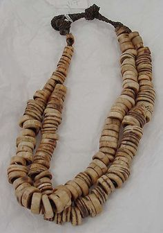Necklace Date: century Culture: Oceanic Medium: bone, straw Dimensions: Length: 29 in. cm) Credit Line: Gift of Muriel Kallis Newman, 2008 Wine Cork Projects, Wine Cork Crafts, Wine Cork Jewelry, Cork Necklace, Wooden Necklace, Jewelery, Jewelry Necklaces, Cork Art, Handmade Jewelry