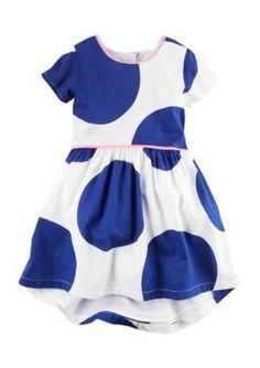 Carters Print Big Dot Dress Toddler Girls
