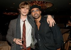 My new background on my computer.  It's so pretty I almost can't stop looking at it.    Shemar Moore and Matthew Gray Gubler Photo - 14th Annual Diversity Awards Gala - Backstage