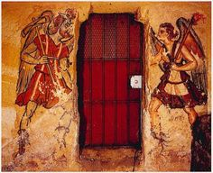 """""""let me escort you to the underworld"""" - Etruscan Charun and Vanth from the Tomb of the Anina Family. Ancient Rome, Ancient Art, Ancient History, Art History, Mycenaean, Minoan, Tempera, Fresco, Goddess Of The Underworld"""
