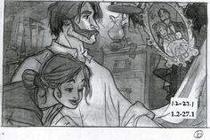 Storyboard from Tarzan by Paul Felix