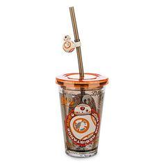Disney Tumbler with Straw - Small - Star Wars: The Force Awakens Bijoux Star Wars, Star Wars Jewelry, Star Wars Bb8, Star Wars Droids, Star Wars Birthday, Star Wars Party, Walt Disney, Disney Cars, Anniversaire Star Wars