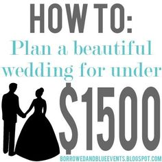 Tips Tricks on how to plan your dream wedding for amazingly cheap. I especially love her alternative to flowers! | weddingsabeautiful
