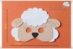 Eid Crafts, Baby Crafts, Paper Crafts, Sheep Mask, Diy For Kids, Crafts For Kids, Sheep Cartoon, Easter Hunt, Toddler Art