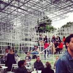 Sou Fujimoto's Serpentine Pavilion 2013 with Fortnum & Mason Cafe