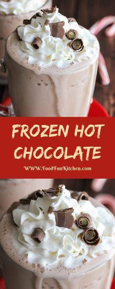 FROZEN HOT CHOCOLATE | Food Fun Kitchen