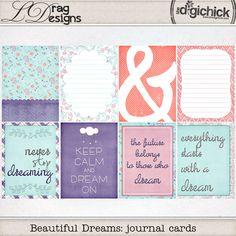 Beautiful Dreams: Journal Cards by LDrag Designs