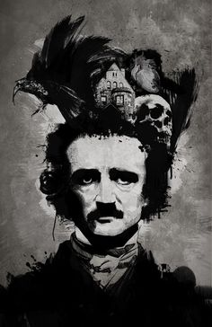 "Edgar Allan Poe (1809 -1849)    'Once upon a midnight dreary, while I pondered, weak and weary,  Over many a quaint and curious volume of forgotten lore,  While I nodded, nearly napping,   suddenly there came a tapping,  As of some one gently rapping,   rapping at my chamber door.  ""'Tis some visitor,"" I muttered,   ""tapping at my chamber door-  Only this, and nothing more.""  '      (Raven 1845)"