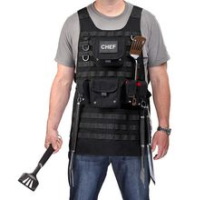 Tactical BBQ Apron - http://www.differentdesign.it/2013/06/13/tactical-bbq-apron/