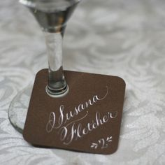 Escort card and glass marker