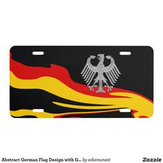 Abstract German Flag Design with German Eagle - Car Floor Mats License Plates, Air Fresheners, and other Automobile Accessories