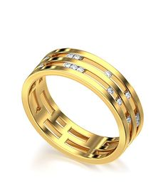 The Adette Channel Set 18Kt Real Gold