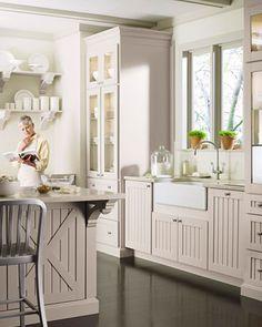 Martha Stewart kitchen with crate detail