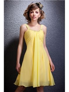 Pretty Draped A-Line Knee-Length Straps Daria's Prom/Homecoming Dress Junior Prom Dresses- ericdress.com 9302293
