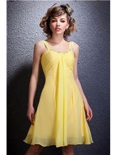 Pretty Draped A-Line Knee-Length Straps Daria's Prom/Homecoming Dress Junior Prom Dresses- ericdress.com 9302293