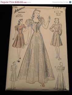 10 off for Autumn Advance 2659 1930s 30s by EleanorMeriwether