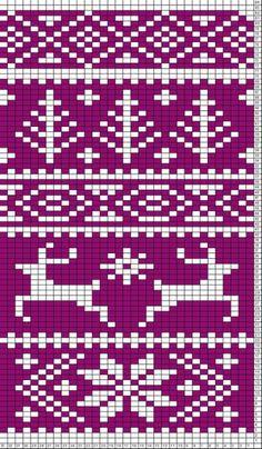 Fair Isle Reindeer Pattern | crochet