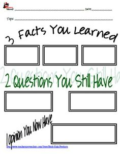 3 IN 1 - TAKING NOTES WORKSHEETS - TeachersPayTeachers.com