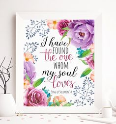 $5 Song of Solomon 3:4 Bible love printable art by SoulPrintables