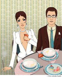 для журнала , Иллюстрация © АннаЛазарева Anna, Family Guy, Fictional Characters, Griffins