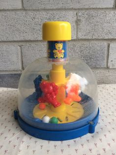 Vintage Teddy Go Round Toy Teddy Go Round Shelcore by LauraTrev1