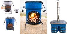 Versa, Dura and Plancha fuel efficient wood stoves.
