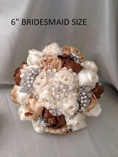 Crystal and pearl brooch bouquet with pearl & rhinestone drape Bride Bouquets, Bridesmaid Bouquet, Wedding Bridesmaids, Beach Wedding Headpieces, Headpiece Wedding, Pearl Brooch, Crystal Brooch, Broch Bouquet, Fabric Rosette