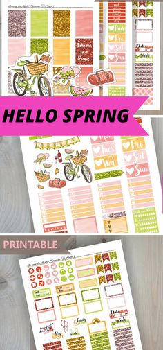 821a7076f106 Is your planner ready for spring  Use these beautiful spring bujo stickers  for the easiest