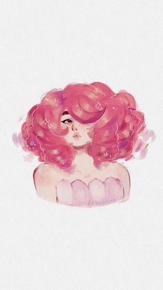 Rose-Steven universe discovered by Leprechaun, Rose Quartz Steven Universe, Fan Art, Universe Art, Cute Art, Cartoon Network, Illustration, Character Design, Pink