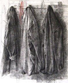 Plašči / Coats | KUNSTMATRIX - Zec Safet Coats, 2005 - 2006 etching-drypoint 100,0 cm x 70,0 cm