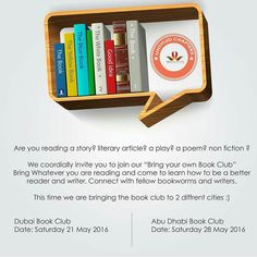 Tomorrow! Who'll be there for the Dubai Book Club?  This time Bring Your Own Book Club is a two for one special!  Saturday 21 May 2016 Led by @rambling_sha  Location: @hugocafe  Time: 4 to 6pm . . . And for the very first time in Abu Dhabi introducing Bring Your Own Book Club led by the fabulous @dazzling_mage next week!  Saturday 28 May 2016 Location: The Third Place Cafe Time: 4 to 6 pm  #Yearofreading #mydubai #myabudhabi #dubaireads #Abudhabireads #bookclub #uaereads #bookworm #book…