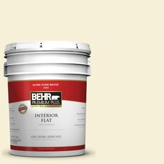 BEHR Premium Plus 5-gal. #W-B-310 Glow Zero VOC Flat Interior Paint