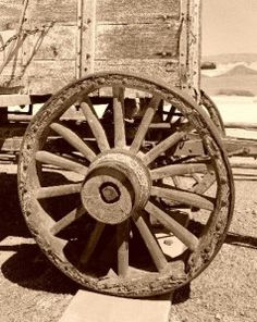 Image detail for -Wagon Wheel - from Royalty Free Image of Old West Kitchen Tarzan, Wooden Wagon, Wooden Wheel, Horse Drawn Wagon, Old Wagons, Into The West, Covered Wagon, Chuck Wagon, Milk Cans