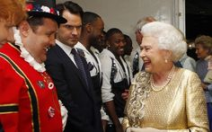 Pictures of the year 2012: the Royal family - Telegraph:  The Queen meets Peter Kay and Jimmy Carr backstage at The Diamond Jubilee Concert outside Buckingham Palace on 4 June 2012