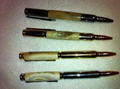 Whitetail antler cartridge pens
