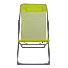 Marcus Chilienne / Chaise longue de jardin vert anis