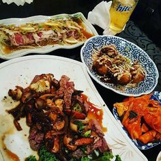 #protein #chopsteak #sashimi #tataki #kimchi #hite #takoballs #takoyaki #takotuesday by kanalukono