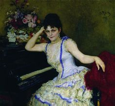 Portrait of pianist and professor of Saint Petersburg Conservatory Sophie Menter - Repin Ilya, State Tretyakov Gallery, Moscow https://en.wikipedia.org/wiki/Sophie_Menter