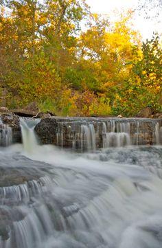 A majestic waterfall at Innsbrook. www.innsbrook-resort.com  Missouri