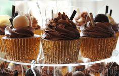 Wedding Chocolate Cupcake Tower by thecustomcakeshop, via Flickr