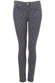 MOTO Ditsy Floral Print Leigh Jeans - StyleSays