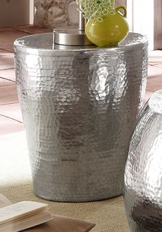 Home Affaire Beistelltisch Aus Aluminium In Hammerschlag Optik Jetzt Bestellen Unter