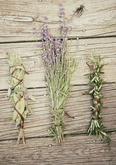 Use the healing herbs Lavender, Sage, and Rosemary to bring positive energy into your home xo