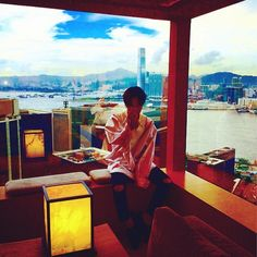 G-Dragon Takes A Picture With Hong Kong In The Background http://www.kpopstarz.com/articles/103085/20140810/g-dragon-takes-a-picture-with-hong-kong-in-the-background.htm