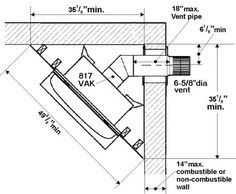 corner fireplace dimensions | Windsor Direct Vent Gas Fireplace