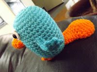 Okay, here he is!! I've had a couple of requests for an amigurumi Perry the Platypus from Phineas and Ferb... You've got to love the blan...