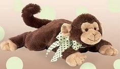 """Giggle Monkey Lying Plush by Bearington - 197355  Designed from the heart and with every new baby in mind, Bearington Baby Collection consists of designer quality products made with the softest and finest fabrics around. Measures 12"""" H"""