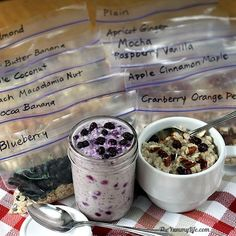 Healthy Instant Oatmeal Packets--for hot & refrigerator oats - 12 easy, make-ahead recipes for grab-and-go home, work, travel, camping, & dorm breakfasts